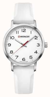 Wenger womens Avenue White Silicone Strap Watch 01.1621.106