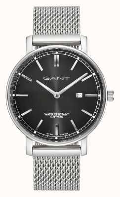 GANT Mens Nashville Stainless Steel Mesh Black Dial GT006008