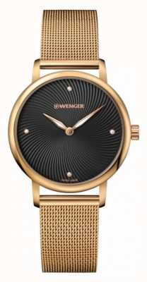 Wenger womens Urban Donissima Gold Mesh Watch 01.1721.102