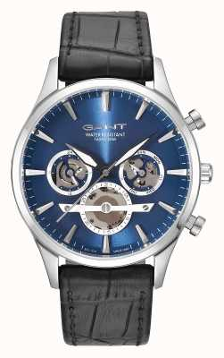 GANT Mens Ridgefield Black Leather Strap Blue Dial GT005001