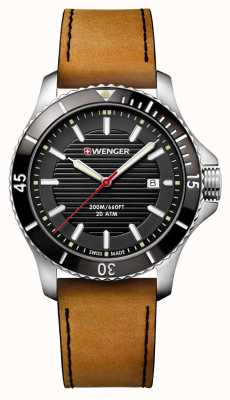 Wenger Seaforce Brown Leather Watch 01.0641.125
