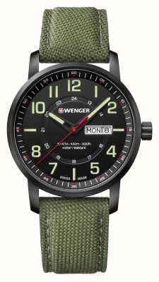 Wenger mens Attitude Green Nylon Watch 01.1541.104