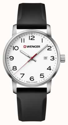 Wenger mens Avenue Black Silicone Strap Watch 01.1641.103