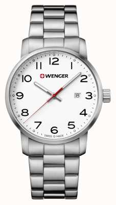 Wenger mens Avenue Stainless Steel Bracelet Watch 01.1641.104