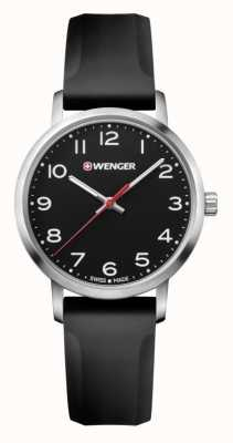 Wenger womens Avenue Black Silicone Strap Watch 01.1621.101