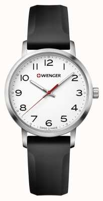 Wenger womens Avenue Black Silicone Strap Watch 01.1621.103