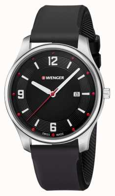 Wenger mens City Active Black Silicone Watch 01.1441.109