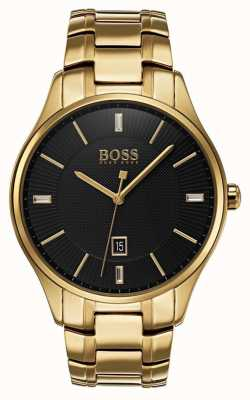 Hugo Boss Mens Governor Gold Bracelet Watch 1513521