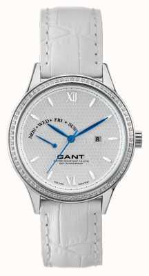 GANT Womens Kingstown White Leather Strap White Dial W10765