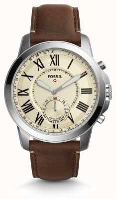 Fossil Q Grant Hybrid Smartwatch Dark Brown Leather FTW1118