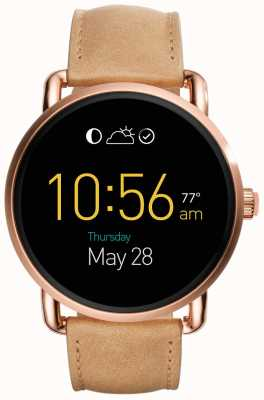 Fossil Gen 2 Q Wander Smartwatch Light Brown Leather FTW2102