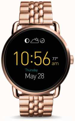 Fossil Womans Gen 2 Q Wander Smartwatch Rose Gold Tone Steel FTW2112