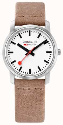 Mondaine Ladies Simply Elegant Sand Leather Strap Watch A400.30351.16SBG