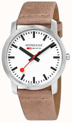 Mondaine Simply Elegant Slim Watch 41mm Sand A638.30350.16SBG