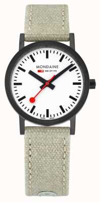 Mondaine Classic IP Case Beige Leather Canvas A658.30323.61SBG