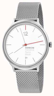 Mondaine Helvetica Spiekermann Light 38mm Steel Mesh MH1.L2212.SM