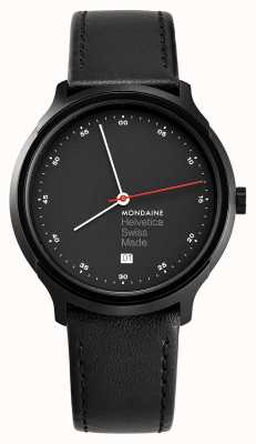 Mondaine Helvetica Spiekermann Regular 40mm Black Leather MH1.R2223.LB