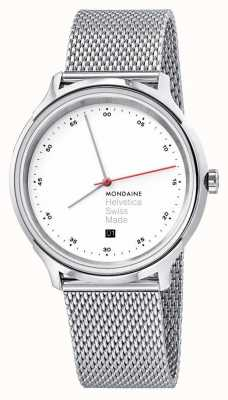 Mondaine Helvetica Spiekermann Regular 40mm Steel Mesh MH1.R2211.SM