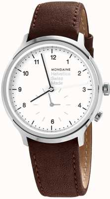 Mondaine Mens Mondaine Helvetica Regular 2nd Time Zone Watch MH1.R2010.LG
