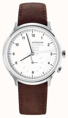 Mondaine Mens Mondaine Helvetica Regular 2nd Time Zone Watch MH1.R2010.LG