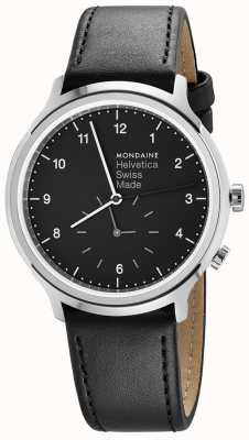 Mondaine Helvetica Spiekermann Regular 40mm Black Leather MH1.R2020.LB