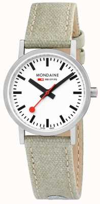 Mondaine Classic Steel Case Beige Leather Canvas A658.30323.16SBG