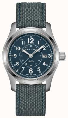 Hamilton Khaki Field Auto 42mm Blue Canvas H70605943