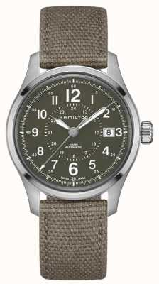Hamilton Khaki Field Auto 40mm Green Canvas H70595963