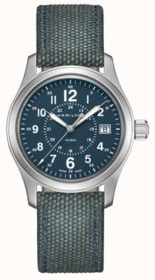 Hamilton Khaki Field Quartz 38mm Blue Canvas H68201943