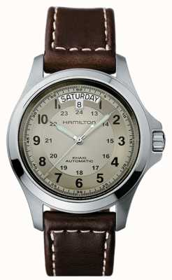 Hamilton Khaki Field Auto Brown Leather H64455523