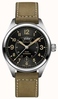 Hamilton Khaki Field Day-Date Auto Olive Green Leather H70505833