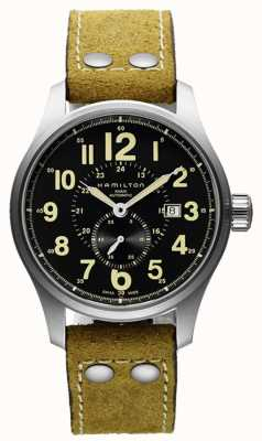Hamilton Khaki Field Auto Beige Leather H70655733