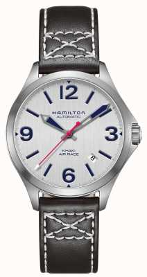 Hamilton Khaki Air Race 38mm Black Leather H76225751