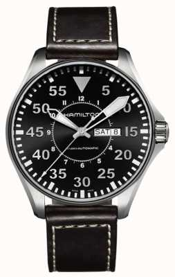 Hamilton Khaki Pilot Auto Brown Leather H64715535