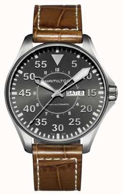 Hamilton Khaki Pilot Auto Brown Leather H64715885