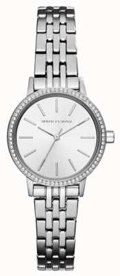Armani Exchange Womens Stainless Steel Bracelet Silver Dial AX5541