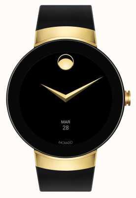 Movado Connect Gold case black silicone bracelet smartwatch 3660014