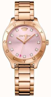 Juicy Couture Womans Sierra Watch Rose Gold Tone 1901622