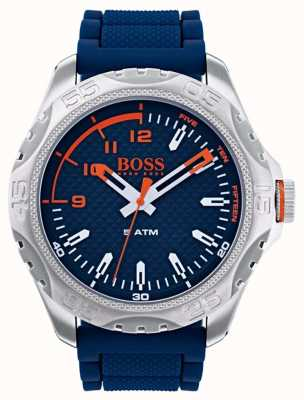 Hugo Boss Orange Mens Honolulu Watch In Blue Rubber 1550031