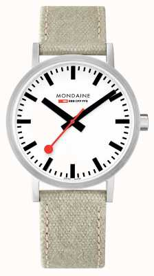 Mondaine Swiss Railways Classic 40mm Beige Canvas Strap A660.30360.16SBG