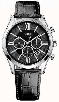 Hugo Boss Ambassador Black Leather 1513194