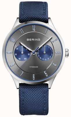 Bering Mens Ultra Light Titanium Nylon Blue 11539-873
