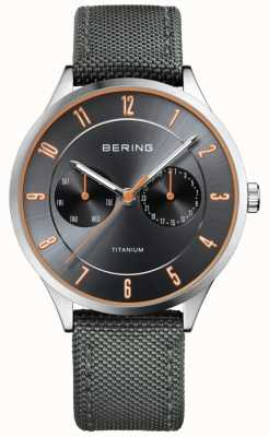Bering Mens Ultra Light Titanium Nylon Grey 11539-879