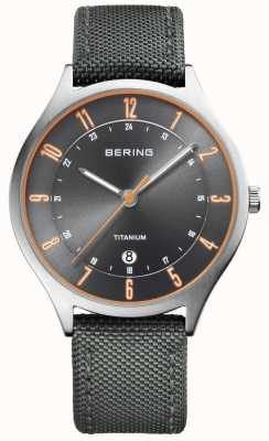 Bering Mens Ultra Light Titanium Nylon Grey 11739-879