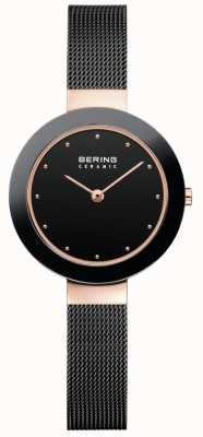 Bering Womans Ceramic Black Milanese Strap 11429-166