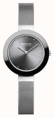 Bering Womans Ceramic Silver Milanese Strap 11429-389