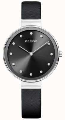 Bering Womans Classic Slim Satin Leather Black 12034-602