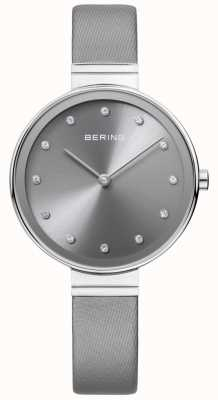 Bering Womans Classic Slim Satin Leather Grey 12034-609