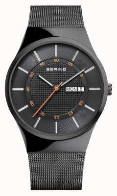 Bering Mens Classic Multifunction Black Mesh Bracelet 12939-222