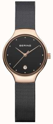 Bering Womans Classic Date Black Milanese Strap 13326-262